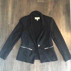 Black Michael Kors blazer with silver zippers
